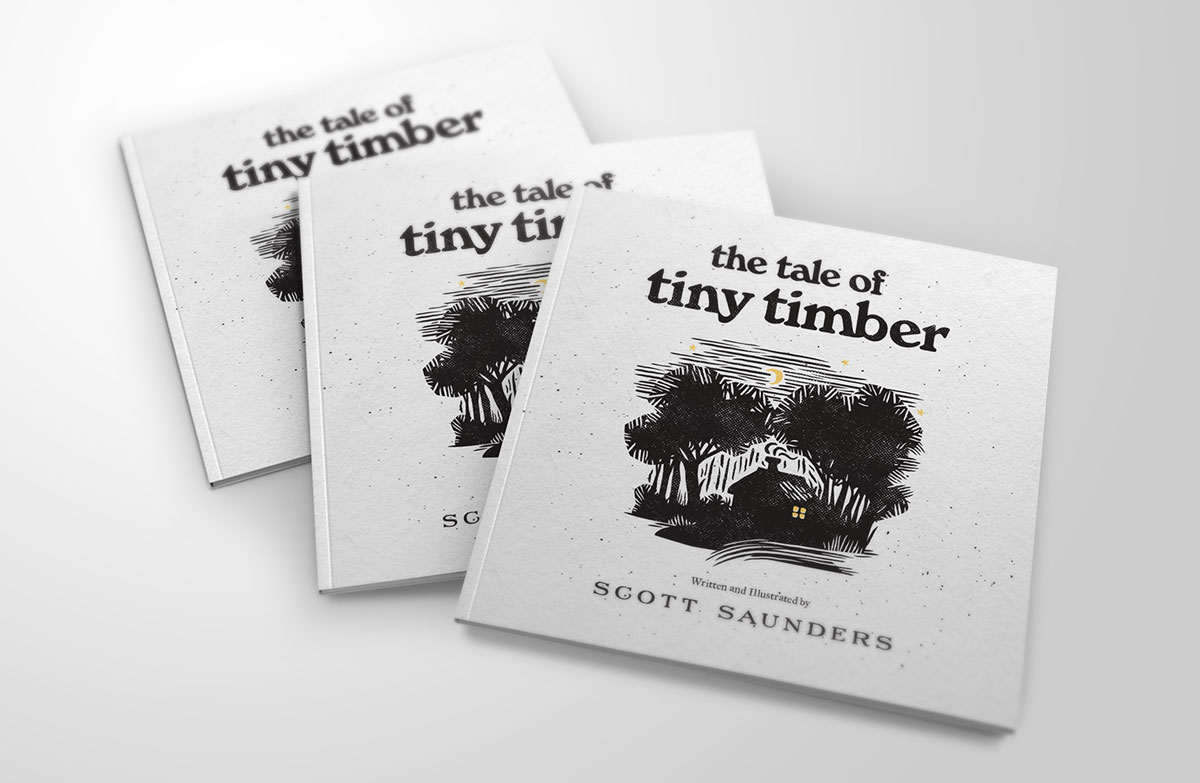 A stack of The Tale of Tiny Timber books
